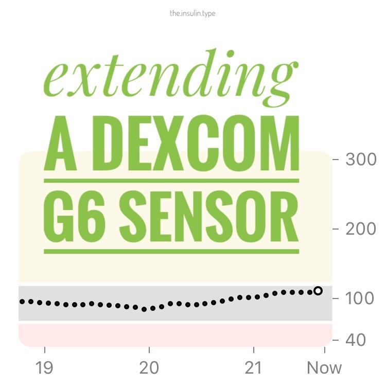 Extending a Dexcom G6 Sensor